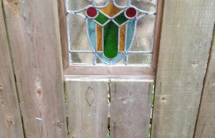Re-purposed stained glass window
