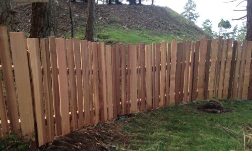 Grape stake fencing