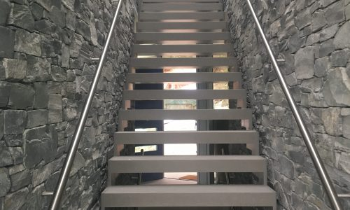 We create rock walls stairs and features indoors and outdoors.